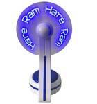 Hare Krishna LED Fan