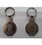 Key Chain Radha-Krishna White Metal Silver