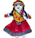 "Childrens Stuffed Toy: Srimati Radharani Doll - 18"" Inches"