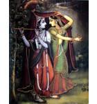 Radha and Krishna in Rain (Greeting Card Pack of 10)