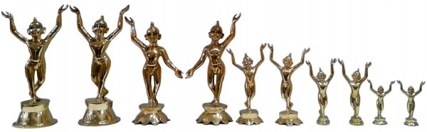 Radha Krishna deities many sizes